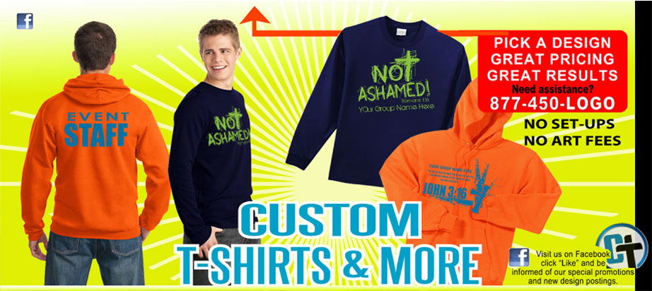 Personalized Christian T-Shirts, Christian School T-Shirts and sweatshirts, Customized Christian T-Shirts for youth Ministry, T-Shirts, T-Shirts screen printed for camps, schools, personalized t-shirts, t-shirts for missions trips, rush t-shirt orders, class of 2018 t-shirt, winter retreat trips, themed t-shirts