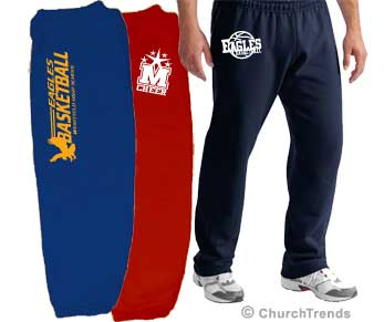 Custom High School Sweatpants printed with your school logo.